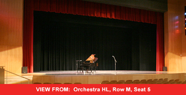 view from the orchestra HL section of the forest hills fine arts center